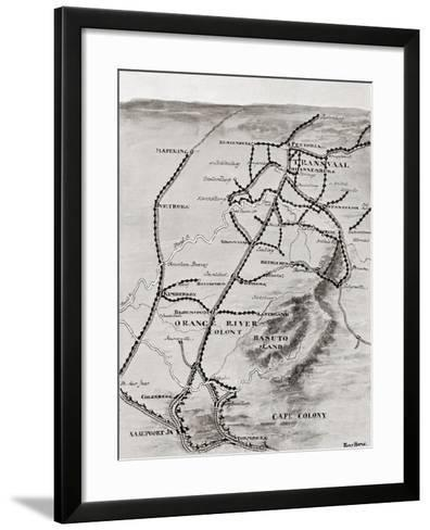 Lord Kitchener's Blockhouse System in South Africa--Framed Art Print