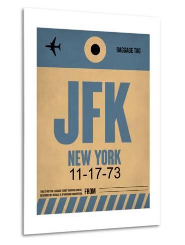 JFK New York Luggage Tag 2-NaxArt-Metal Print
