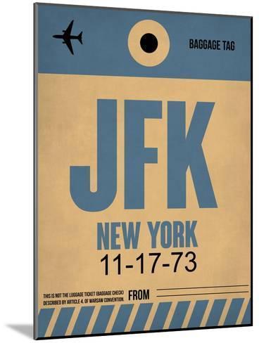 JFK New York Luggage Tag 2-NaxArt-Mounted Art Print