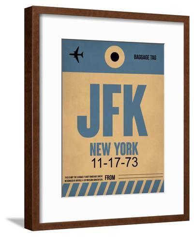 JFK New York Luggage Tag 2-NaxArt-Framed Art Print
