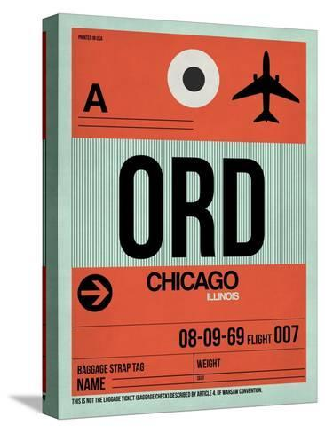 ORD Chicago Luggage Tag 2-NaxArt-Stretched Canvas Print
