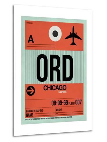 ORD Chicago Luggage Tag 2-NaxArt-Metal Print