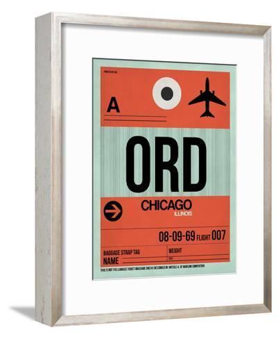ORD Chicago Luggage Tag 2-NaxArt-Framed Art Print