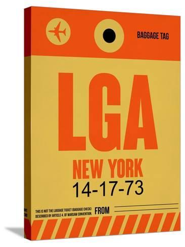 LGA New York Luggage Tag 1-NaxArt-Stretched Canvas Print