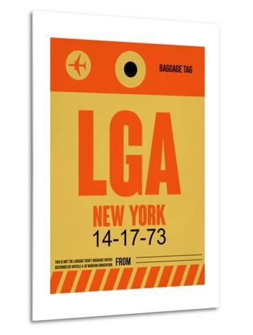 LGA New York Luggage Tag 1-NaxArt-Metal Print