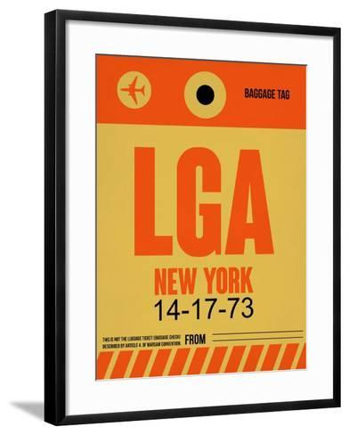 LGA New York Luggage Tag 1-NaxArt-Framed Art Print