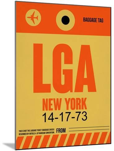 LGA New York Luggage Tag 1-NaxArt-Mounted Art Print