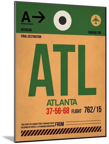ATL Atlanta Luggage Tag 1-NaxArt-Mounted Art Print