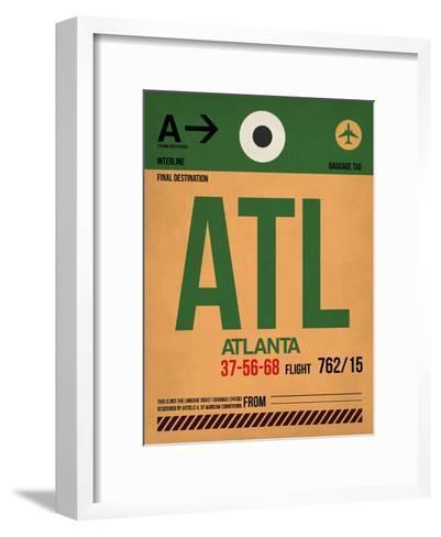 ATL Atlanta Luggage Tag 1-NaxArt-Framed Art Print