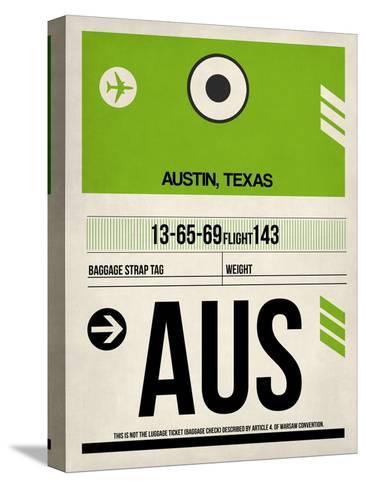 AUS Austin Luggage Tag 1-NaxArt-Stretched Canvas Print