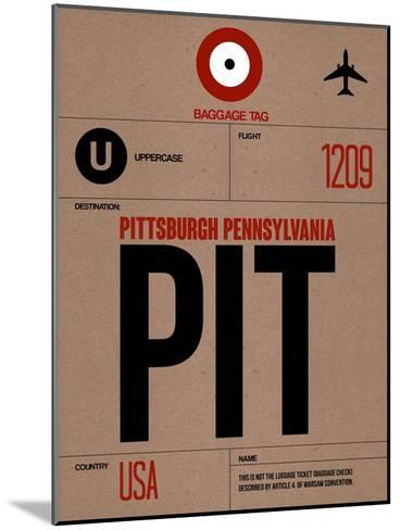 PIT Pittsburgh Luggage Tag 1-NaxArt-Mounted Art Print