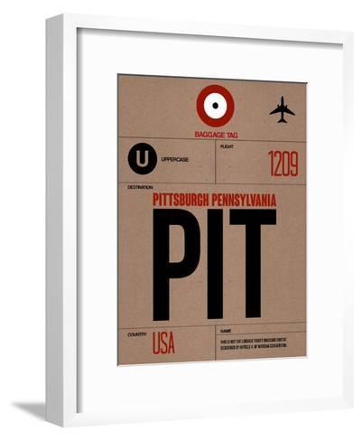 PIT Pittsburgh Luggage Tag 1-NaxArt-Framed Art Print