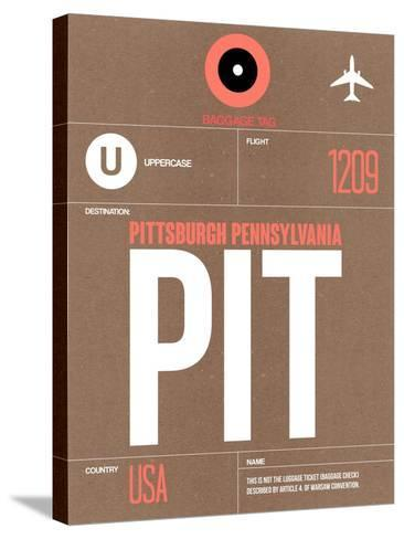 PIT Pittsburgh Luggage Tag 2-NaxArt-Stretched Canvas Print