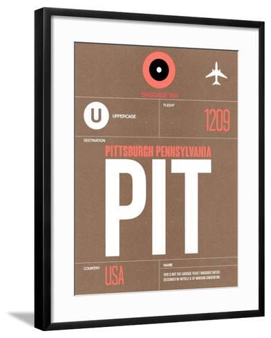 PIT Pittsburgh Luggage Tag 2-NaxArt-Framed Art Print