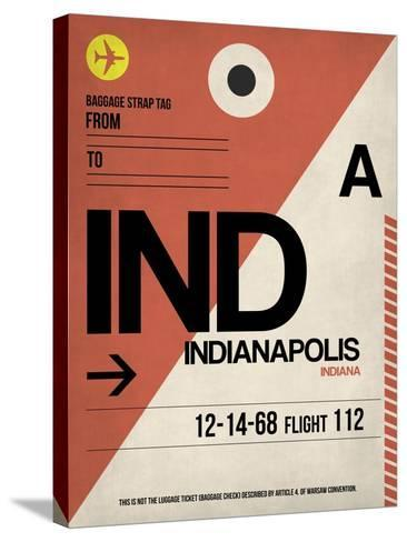 IND Indianapolis Luggage Tag 1-NaxArt-Stretched Canvas Print