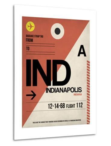 IND Indianapolis Luggage Tag 1-NaxArt-Metal Print