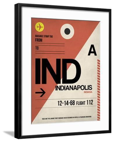 IND Indianapolis Luggage Tag 1-NaxArt-Framed Art Print