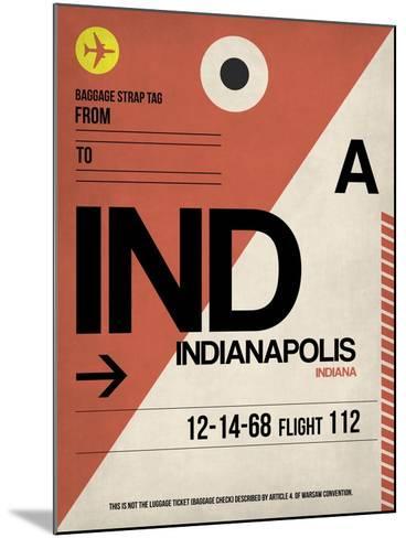 IND Indianapolis Luggage Tag 1-NaxArt-Mounted Art Print