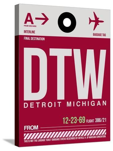 DTW Detroit Luggage Tag 1-NaxArt-Stretched Canvas Print