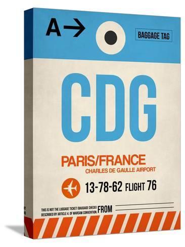 CDG Paris Luggage Tag 2-NaxArt-Stretched Canvas Print