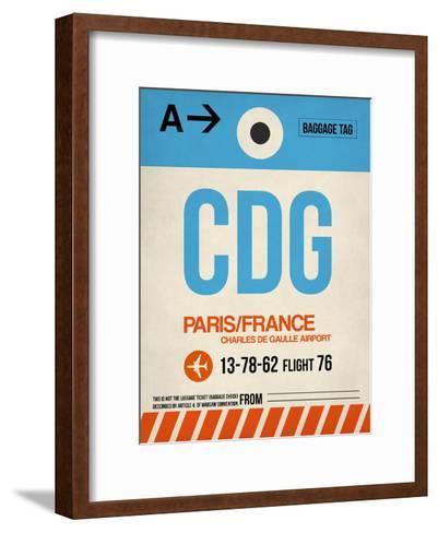 CDG Paris Luggage Tag 2-NaxArt-Framed Art Print