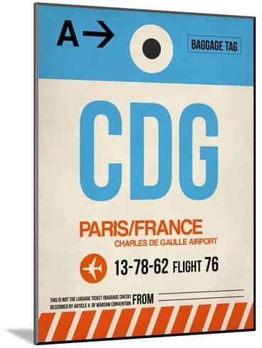 CDG Paris Luggage Tag 2-NaxArt-Mounted Art Print