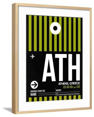 ATH Athens Luggage Tag 2-NaxArt-Framed Art Print