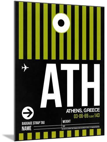 ATH Athens Luggage Tag 2-NaxArt-Mounted Art Print
