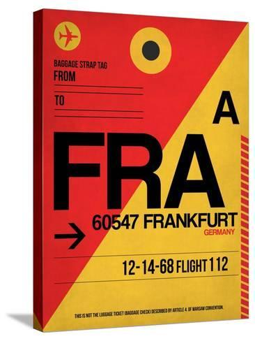 FRA Frankfurt Luggage Tag 2-NaxArt-Stretched Canvas Print
