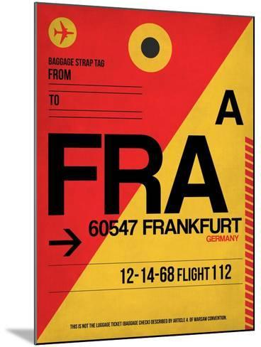 FRA Frankfurt Luggage Tag 2-NaxArt-Mounted Art Print