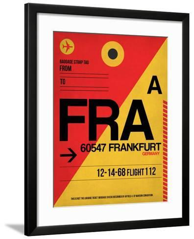 FRA Frankfurt Luggage Tag 2-NaxArt-Framed Art Print