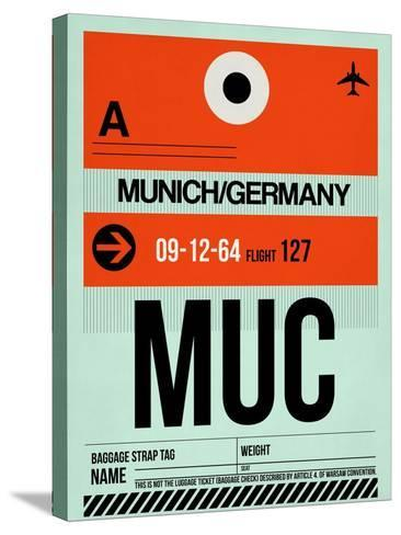 MUC Munich Luggage Tag 2-NaxArt-Stretched Canvas Print