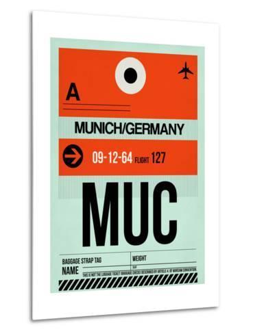 MUC Munich Luggage Tag 2-NaxArt-Metal Print