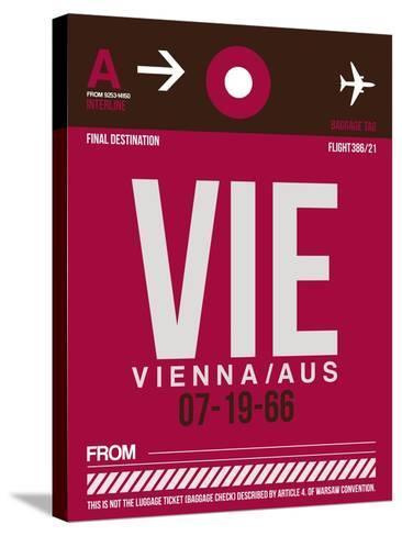 VIE Vienna Luggage Tag 2-NaxArt-Stretched Canvas Print
