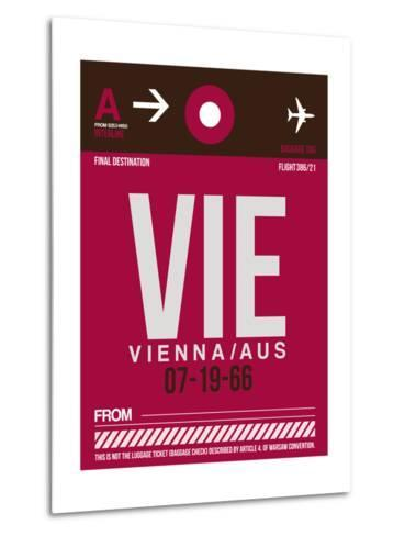 VIE Vienna Luggage Tag 2-NaxArt-Metal Print