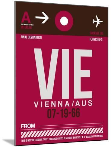 VIE Vienna Luggage Tag 2-NaxArt-Mounted Art Print