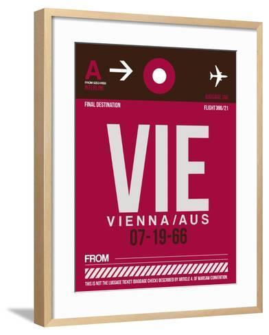 VIE Vienna Luggage Tag 2-NaxArt-Framed Art Print