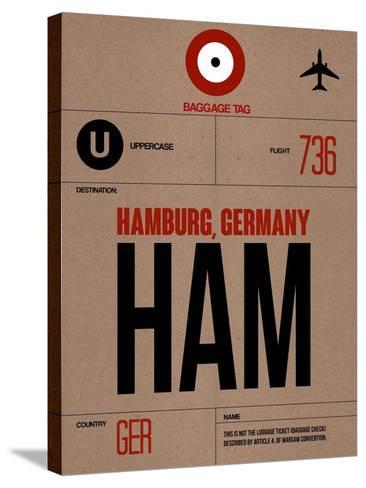 HAM Hamburg Luggage Tag 1-NaxArt-Stretched Canvas Print