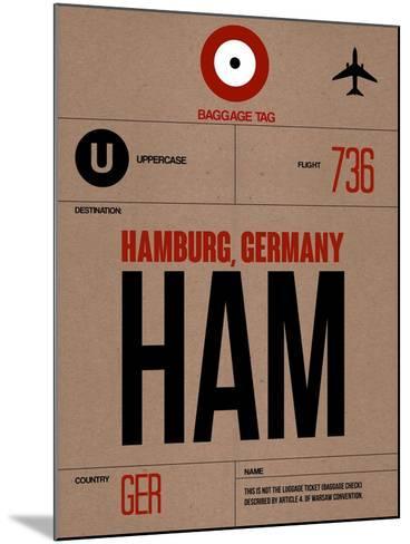HAM Hamburg Luggage Tag 1-NaxArt-Mounted Art Print