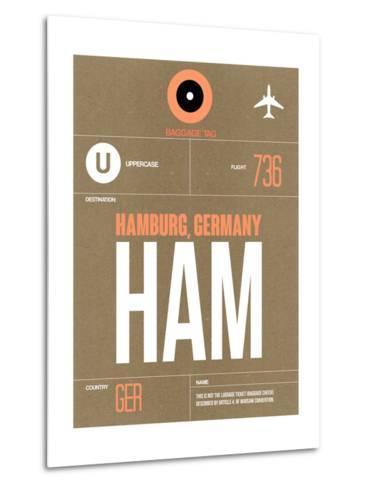 HAM Hamburg Luggage Tag 2-NaxArt-Metal Print