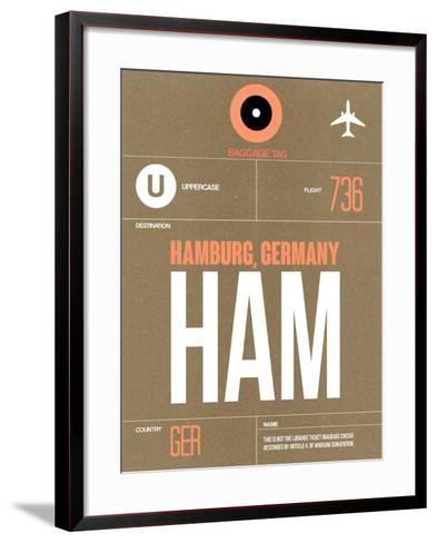 HAM Hamburg Luggage Tag 2-NaxArt-Framed Art Print