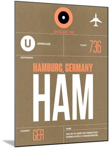 HAM Hamburg Luggage Tag 2-NaxArt-Mounted Art Print