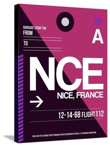 NCE Nice Luggage Tag 1-NaxArt-Stretched Canvas Print