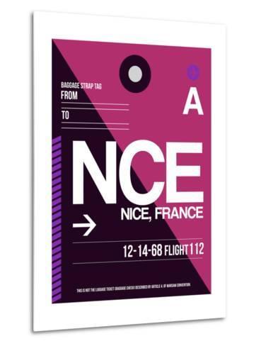 NCE Nice Luggage Tag 1-NaxArt-Metal Print