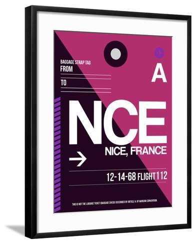 NCE Nice Luggage Tag 1-NaxArt-Framed Art Print