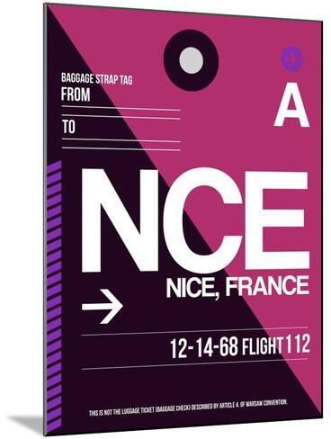 NCE Nice Luggage Tag 1-NaxArt-Mounted Art Print