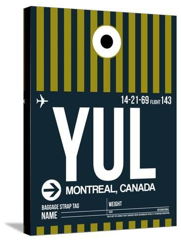 YUL Montreal Luggage Tag 1-NaxArt-Stretched Canvas Print