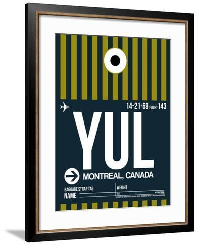 YUL Montreal Luggage Tag 1-NaxArt-Framed Art Print
