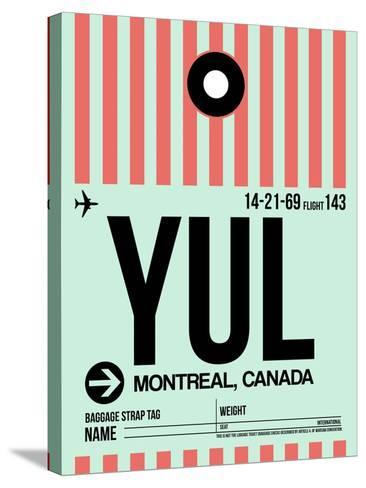 YUL Montreal Luggage Tag 2-NaxArt-Stretched Canvas Print