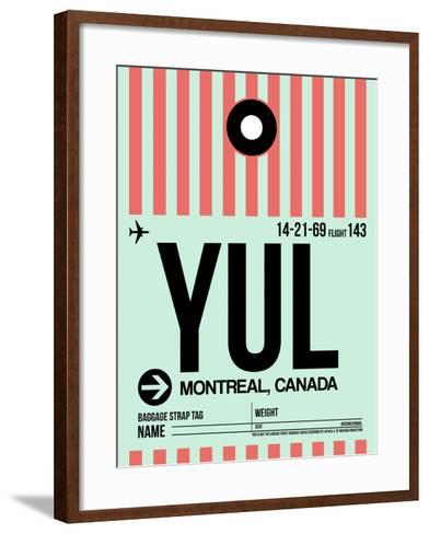 YUL Montreal Luggage Tag 2-NaxArt-Framed Art Print